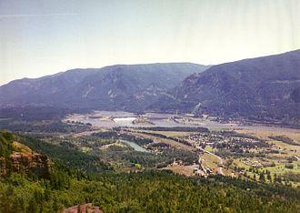 North Bonneville, Washington - North Bonneville, Bonneville Dam, and surrounding area from Beacon Rock State Park