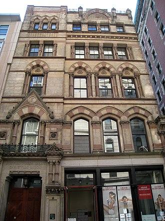 Nathaniel Jeremiah Bradlee - Image: Boston Young Men's Christian Union front facade