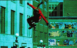Minneapolis–Saint Paul - A Saint Paul Bouncing Team aerialist exhibition in St. Paul