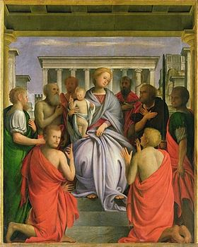 Bramantino - Madonna and Child and Saints - Uffizi.jpg