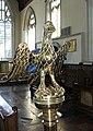Brass Eagle, St Mary's Church, Cavendish, Suffolk - geograph.org.uk - 661825.jpg