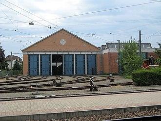 Bremgarten, Aargau - Depot of the Bremgarten-Dietikon-Bahn near the main train station