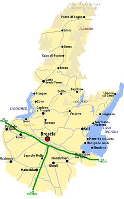 gardasjön karta Brescia (provins) – Wikipedia gardasjön karta