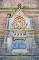 Bristol. Brandon Hill. Cabot Tower. Coat of arms of the UK and Plaque 1.jpg