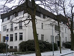 Bristoler Straße 6 Ecke Ludwig-Barney-Straße Hannover-Zoo Hindenburg-Villa Hindenburgviertel Emil Lorenz 1906 Paul von Hindenburg Fritz-Behrens-Stiftung.jpg