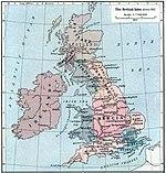 A hét angol királyság i.u. 802 körül
