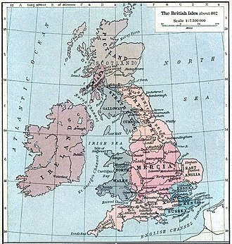 Constitutional status of Cornwall - The British Isles c. 802.