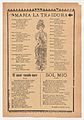 Broadsheet with three ballads about love, a woman wearing a dress and hat placing one hand to her chest and the other behind her back MET DP868548.jpg