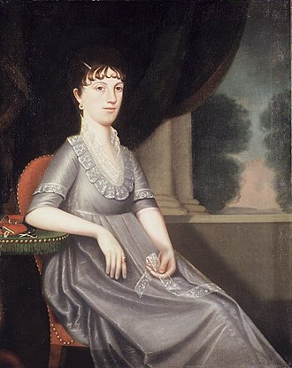 "Ralph Eleaser Whiteside Earl - Image: Brooklyn Museum Mrs. Ebenezer Porter (Lucy ""Patty"" Pierce Merwin) Ralph Eleazer Whiteside Earl overall"