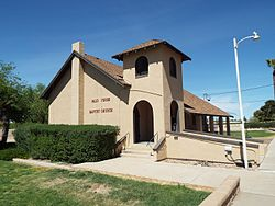 The Palo Verde Baptist Church was built in 1890 and is located on 29600 West Old Hwy. 80.