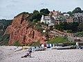 Budleigh Salterton, red cliffs - geograph.org.uk - 1477194.jpg