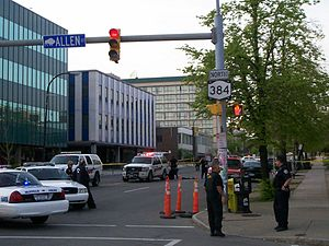New York State Route 384 - NY 384 at Allen Street, during an incident with the Buffalo Police