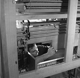 Organ building - German organ builder constructing an organ, 1966