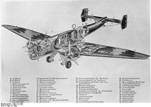 Junkers Ju 86 - Ju 86 cutaway diagram