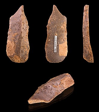 Burin (lithic flake) - Burin from the Upper Paleolithic (Gravettian) (ca. 29,000–22,000 BP)