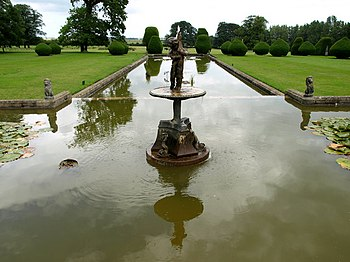 English: Burton Agnes Ornamental Pond