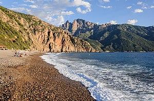 Bussaglia beach in Serriera