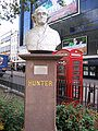 Bust of John Hunter in Leicester Square.jpg