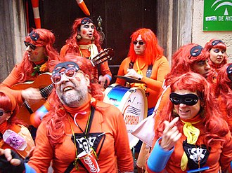 Fiestas of International Tourist Interest of Spain - Image: Cádiz Carnaval Chirigota