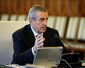 President of the Senate of Romania - Image: Călin Popescu Tăriceanu at a government meeting