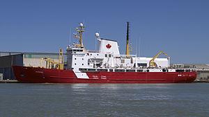 CCGS Amundsen - Amundsen in May 2013, finishing refit at Port Weller, Ontario