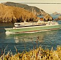 CND 24.852 - Cook Strait Ferries - Arahura - Marlborough Sounds entering Tory entrance from West Head, background Perano Head (27159342837).jpg