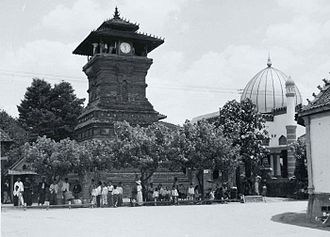Kudus Regency - Minaret of Kudus mosque. Photo from colonial period.
