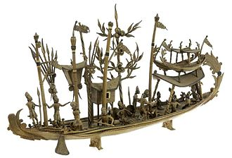 Tiwah - A model of the spirit ship that is said to conduct the liau of the dead to the land of the dead where they would meet the ancestors.