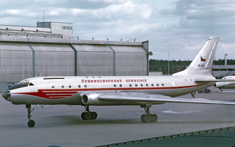 Tupolev - Tu-104, the first soviet turbojet airliner.