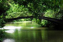 Vogelbrücke in the Volksgarten