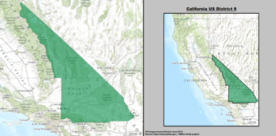 California's 8th congressional district - since January 3, 2013.
