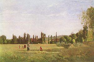 Saint-Maur-des-Fossés - La Varenne-de-St.-Hilaire by Camille Pissarro, circa 1863