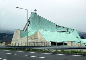 San Giovanni Battista, Highway A11 - The Church of the Freeway of the Sun, Italy
