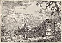 Canaletto, Landscape with Tower and Two Ruined Pillars, c. 1735-1746, NGA 774.jpg