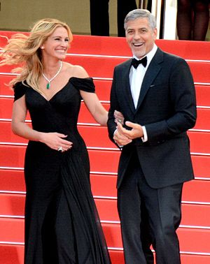 Money Monster - Julia Roberts and George Clooney promoting the film at the 2016 Cannes Film Festival.
