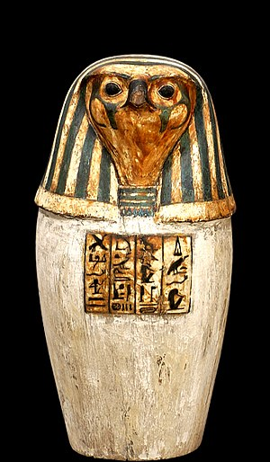 Qebehsenuef - Canopic jar Depicting Qebehsenuef