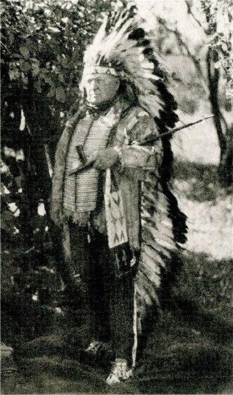 """Major Israel McCreight - Major Israel McCreight, Cante Tanke """"Great Heart"""" (Čhaŋté Tȟáŋka), The Wigwam,  Du Bois, Pennsylvania, c.1920"""