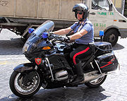 Motorcycle of the Italian Carabinieri