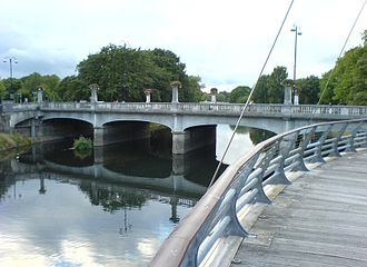 A4161 road - Cardiff Bridge