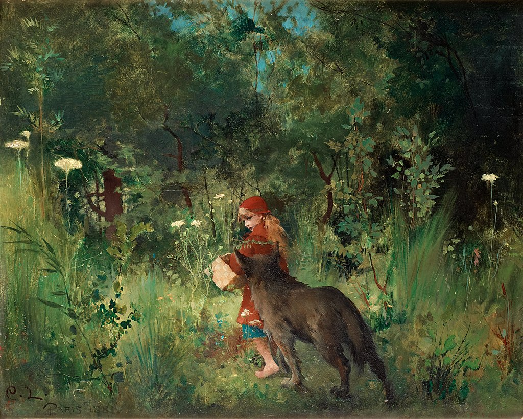 Carl Larsson - Little Red Riding Hood 1881