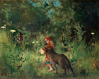 Little Red Riding Hood - Little Red Riding Hood (1881) by Carl Larsson