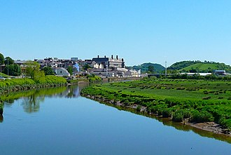 Carmarthen - Image: Carmarthen from Lesneven Bridge