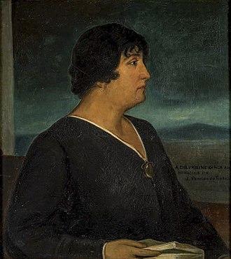 Carmen de Burgos - Portrait by Julio Romero de Torres in 1917