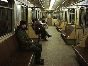 Metrovagonmash 81-717/81-714 - Interior of a 81-717/714 car