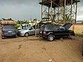 Cars in a local mechanic workshop in Nigeria.jpg