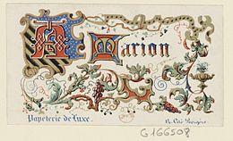 Carte Dadresse Sic Lithographiee A Paris En 1842 Pour Un Papetier BnF