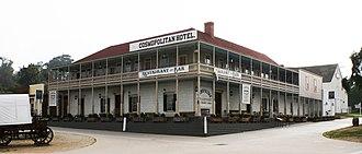 Cosmopolitan Hotel and Restaurant - Cosmopolitan Hotel (formerly Casa de Bandini - 1829) in Old Town San Diego State Historic Park, San Diego, California
