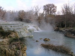 Cascades from the hot springs at Saturnia