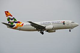 Cayman Airways Boeing 737-300; VP-CAY@MIA;17.10.2011 626mx (6698021161).jpg