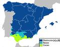Ceceo-seseo-distinción en el español de Europa.png